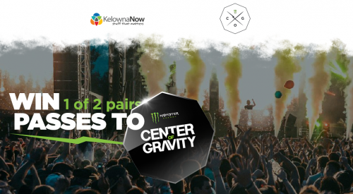 Contest Closed! Contest Alert! Win a pair of 3-day passes to Center of Gravity