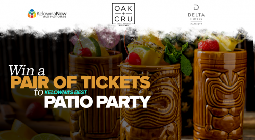 Contest closed! Win two tickets to Kelowna's Best Patio Party presented by the Grand Okanagan Resort