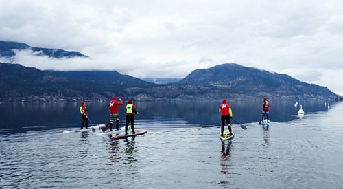 Kelowna team paddles on Lake Okanagan for 24 hours straight to raise $9K for people with cancer