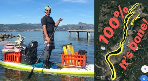 'There's a lot of tires, it's shocking': Paddleboarder completes grueling lake clean up