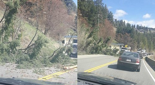 UPDATE: Power back on, both lanes of Hwy 97 open