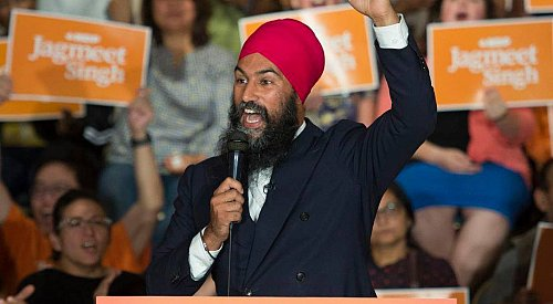 NDP leader Jagmeet Singh will attend a rally in Penticton today